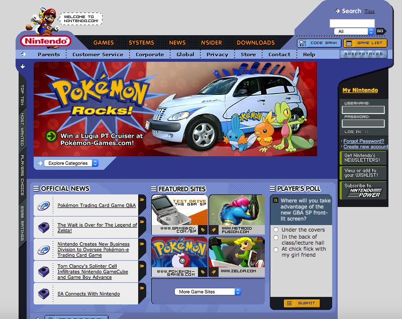 nintendo.com in 2003