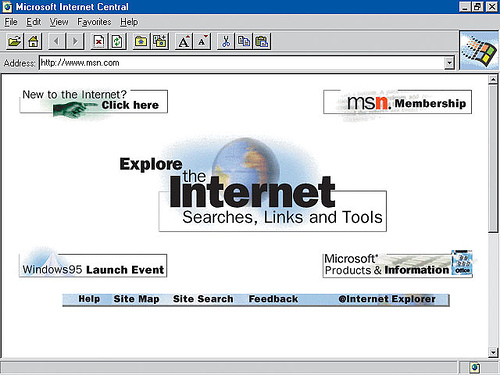 Screenshot of Internet Explorer 1