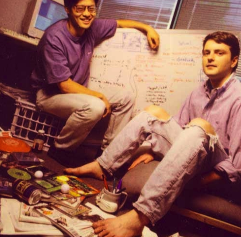 Yahoo! Founders Jerry Yang and David Filo in 1995.