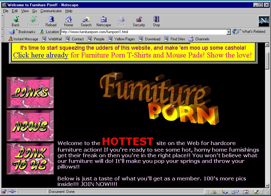 Porn site main page