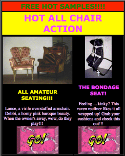 Screenshot of the Furniture Porn main page