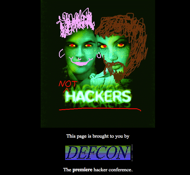 Hackers website hacked screenshot