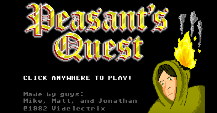 Peasant's Quest title screen