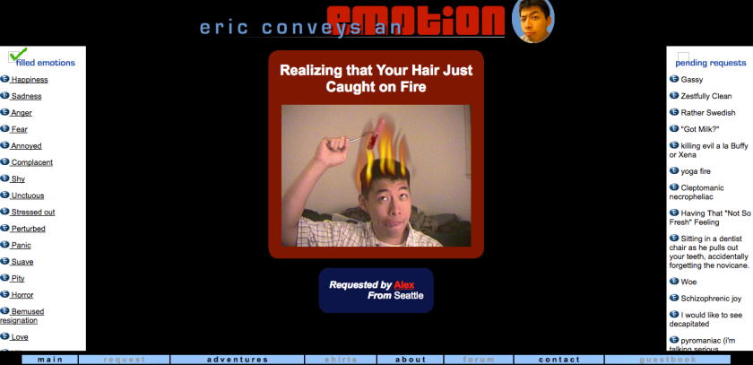 Screenshot of Eric Conveys an Emotion