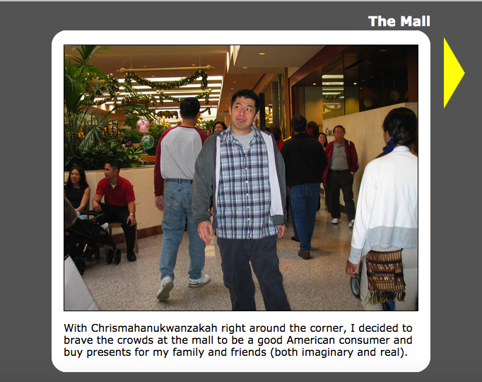The Mall Adventure Game on Eric Conveys an Emotion