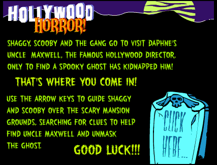 Opening screen of Scooby Doo Hollywood Horror Episode 1